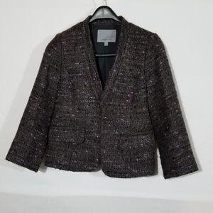 Classiques Entier wool blend gray crop blazer